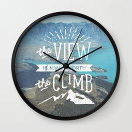 WORTH THE CLIMB Wall Clock