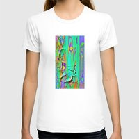 shabby chic T-shirts featuring  Shabby Chic Faux Torn Vintage Wall Paper by SharlesArt