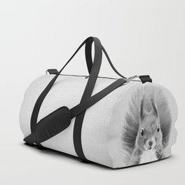 Squirrel 2 - Black & White Duffle Bag