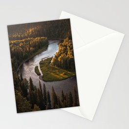 Nordic Forest River Stationery Cards