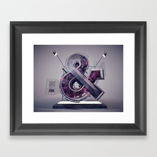 Ampersand_139 Framed Art Print