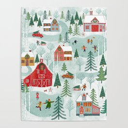 New England Christmas Poster