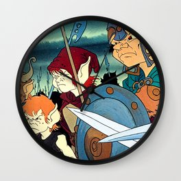 Angry Elves  Wall Clock