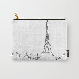 Paris, France Outline (Eiffel Tower, Notre Dame) Carry-All Pouch