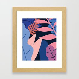 Colored Leaves Framed Art Print
