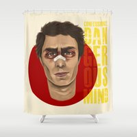sam smith Shower Curtains featuring Sam Rockwell by Blanca Limón