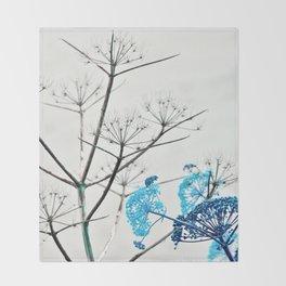 YELLOW WILD-FLOWERS of Sicily Throw Blanket