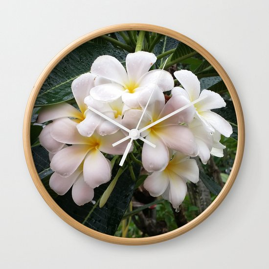 WHITE CLUSTER Wall Clock