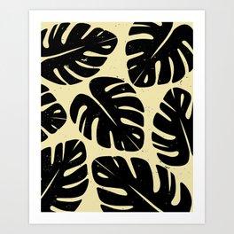 Monstera Leaf Print 2 Art Print