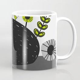 Sleepy cat and floral bouquet Coffee Mug