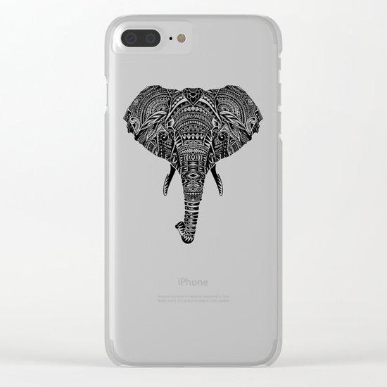 Polynesian Elephant Clear iPhone Case