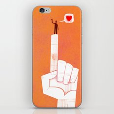 the point is my heart iPhone & iPod Skin