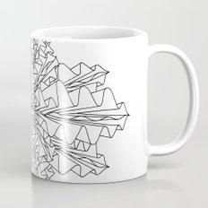 starburst line art - white Mug