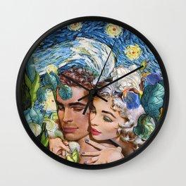 Blue Romance Wall Clock