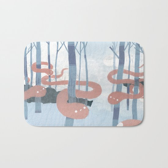Snakes in the Forest Bath Mat