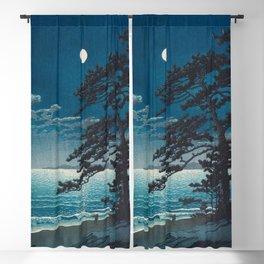Spring Moon At Ninomiya Beach By Kawase Hasui Blackout Curtain