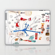 The Time To Be Happy Is Now Laptop & iPad Skin