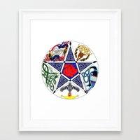 pentagram Framed Art Prints featuring Celtic Pentagram by Groomporter