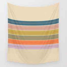 Pastel Stripes Wall Tapestry