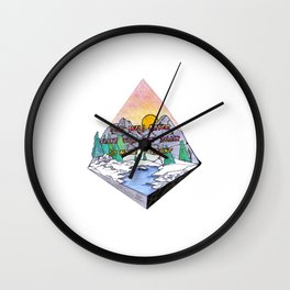 You Will Never Have This Day Again So Make It Count Wall Clock