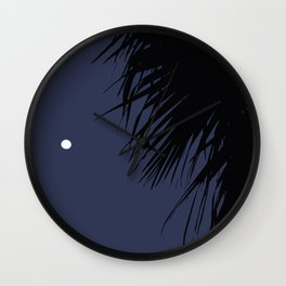 Palm Tree and the Moon Wall Clock