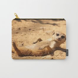 Meerkat Suricat suricatta Sunbathing #decor #society6 Carry-All Pouch