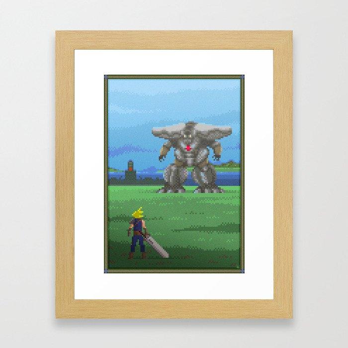 pixel art series 13 the big framed art print by forzapedro society6