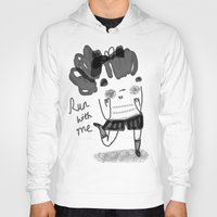 run Hoodies featuring Run by Doodleby