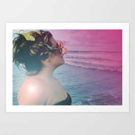 Always See Through Rose Colored Glasses Art Print