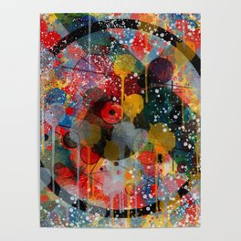 Kandinsky Action Painting Street Art Colorful Poster