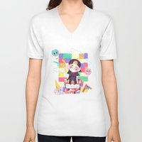 shinee V-neck T-shirts featuring Downtown Baby SHINee by sophillustration