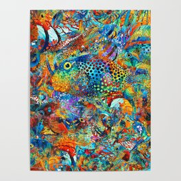 Tropical Beach Art - Under The Sea - Sharon Cummings Poster