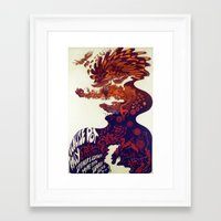 marijuana Framed Art Prints featuring Legalise marijuana by CrazyWorld