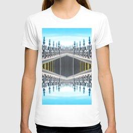 Black wrought iron luxury fence symmetric shaped kaleidoscope T-shirt
