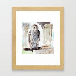 O Happy day - Owl Framed Art Print