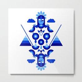 Libra in Blue Metal Print