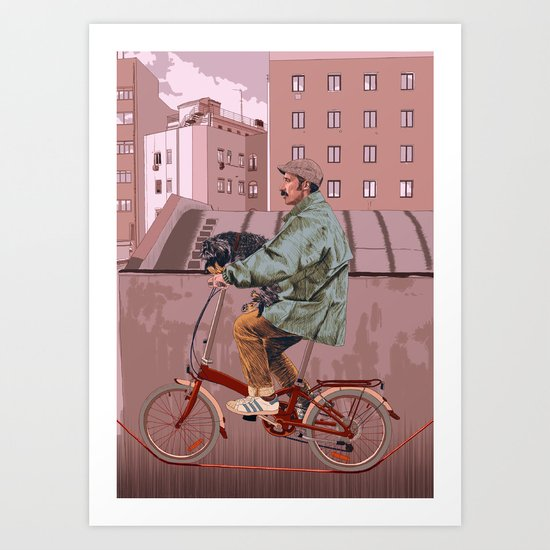 City bikes Art Print