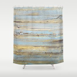 Design 111 wood look Shower Curtain