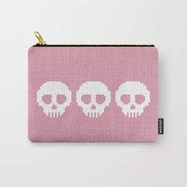 Pixel Skulls - Pink Carry-All Pouch