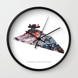 Star War Imperial Star Destroyer - Wall Art, Poster, Print, Watercolor, Fine Art, Series 6 of 6 Wall Clock