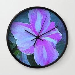 Impatiens Wall Clock