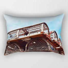 Lobster Trap Stack Rectangular Pillow