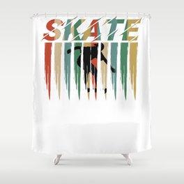 Skate Skateboard Skater Vintage Retro Style Shower Curtain