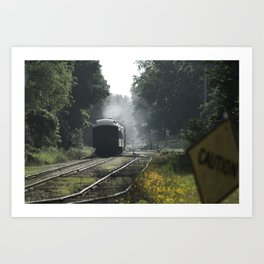 Leaving Train Art Print