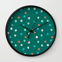 dots Wall Clocks featuring dots by Grace