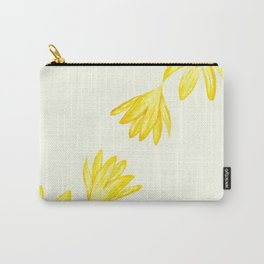 yellow botanical crocus watercolor Carry-All Pouch