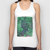 queer Tank Tops featuring Queer Buddha ~ Wisdom II by Jamila