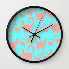 Pink Cats Wall Clock