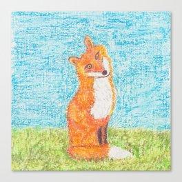Foxy Little Fox Canvas Print