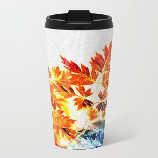 Enchanted Fern Leaves Metal Travel Mug